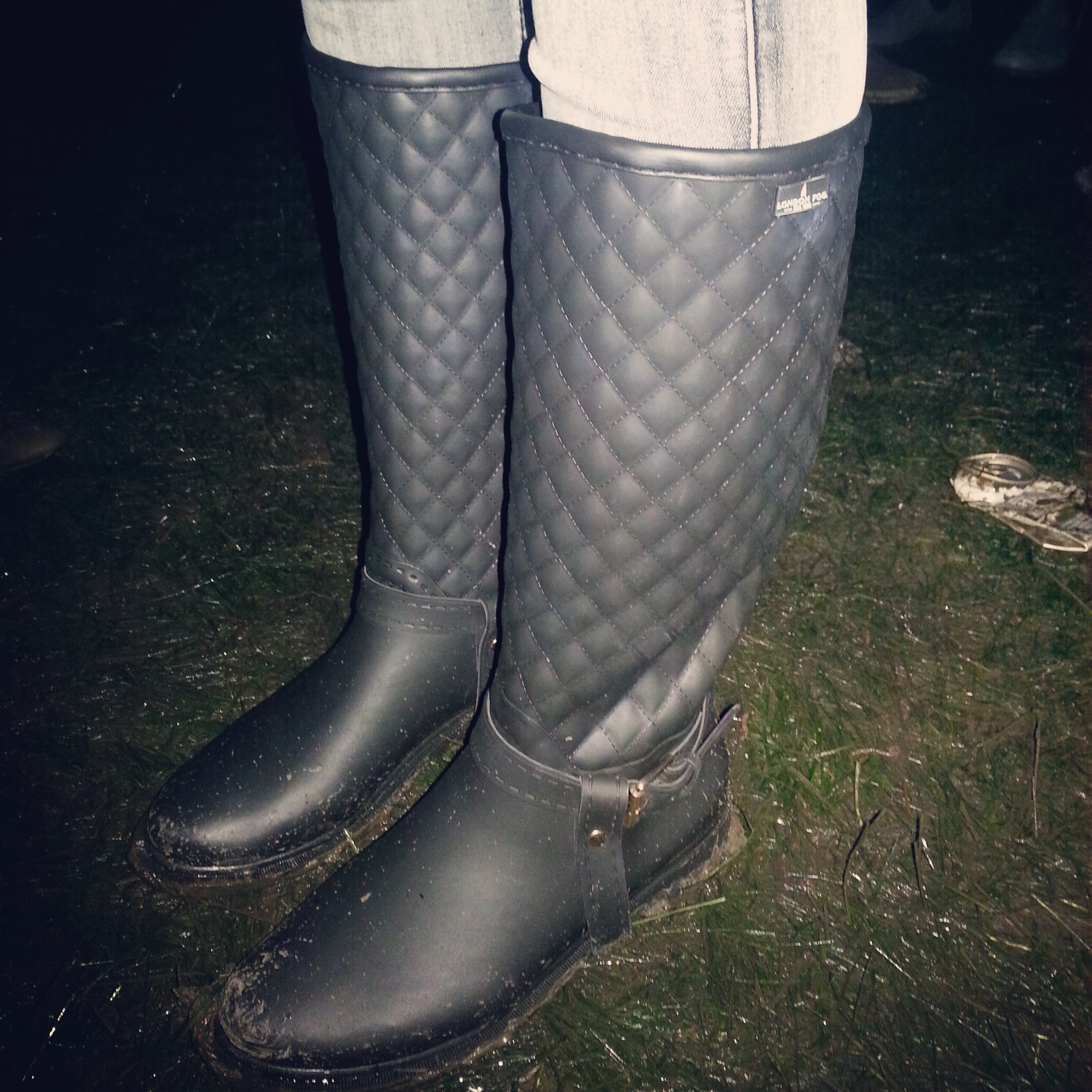 Although in terms of chic factor, my girl Kimberly's London Fogs were the winners. They don't even look like rubber boots-- the only reason I knew was because we'd been boot shopping together.