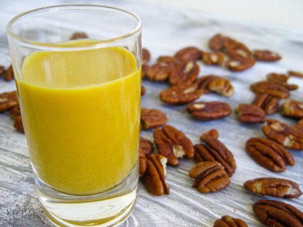 Raw Carrot Pecan Milk - Deliciously Holistic by Shelley Alexander