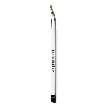 For less than 6 bucks this eyeliner brush performs just as well as Mac's 209 brush plus it's bent for an easy gel eyeliner application.  It's available at Target.