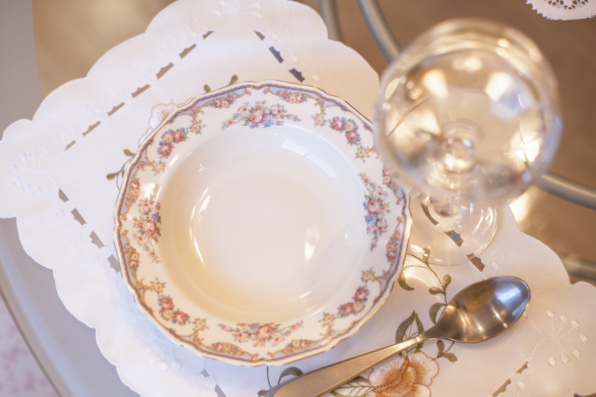 Grandma Edna's Thomas Ivory Bavarian China - she bought this for herself in the early 1940s.
