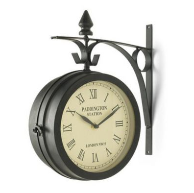 ERGO Bistro Double-Sided Wall Clock