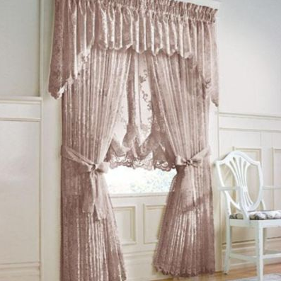 TIffany Scalloped Lace Curtains