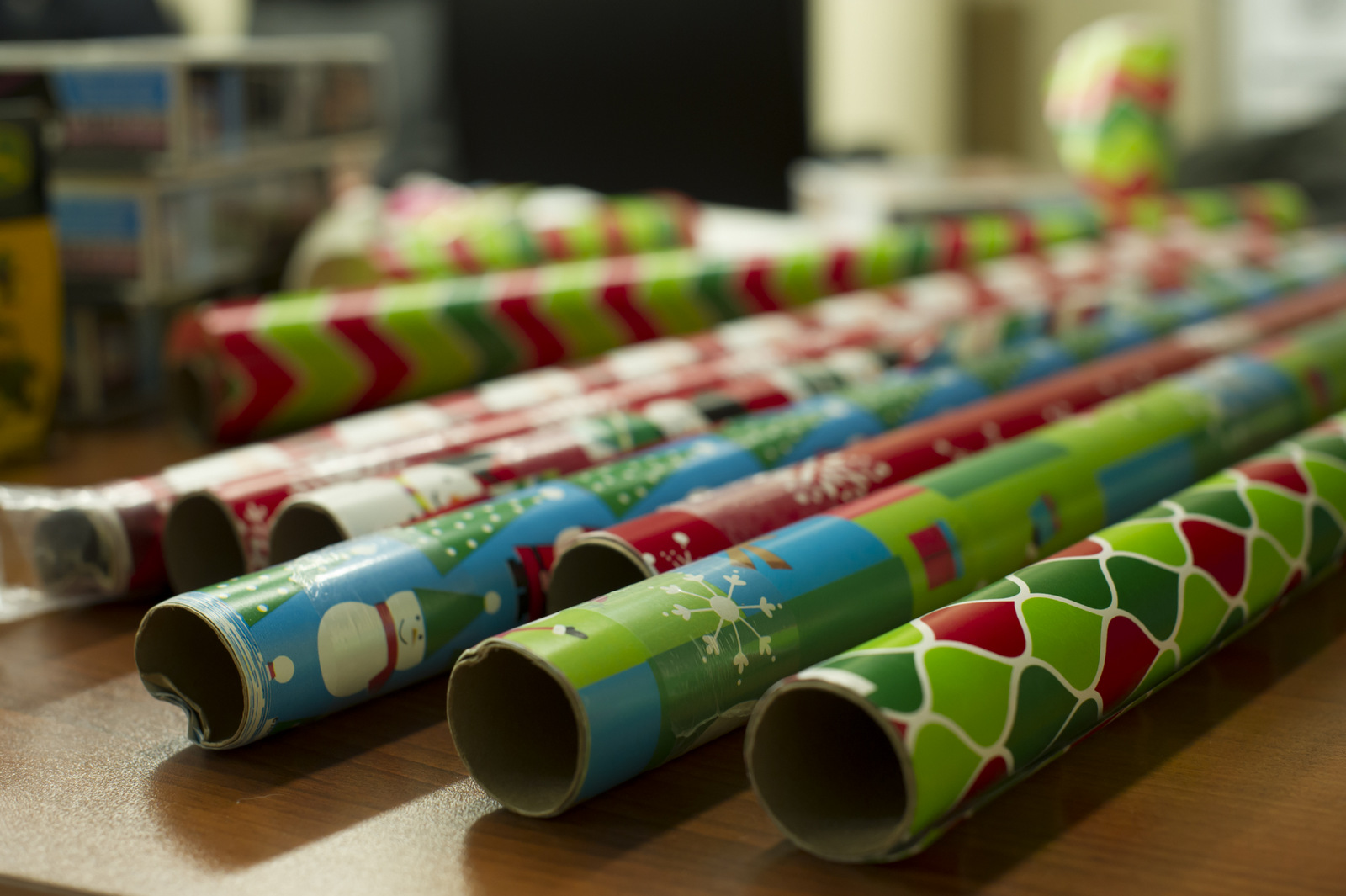 Donated wrapping paper.