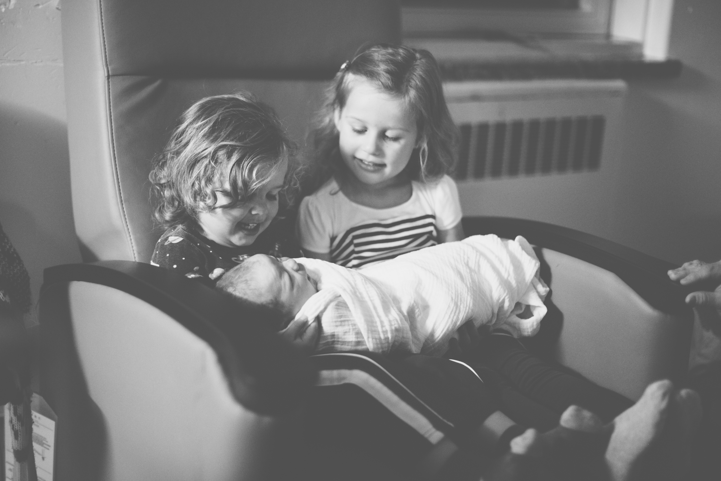 Our kid lets meeting their new brother. Probably one of my fav moments to date.photo credit: deMo Photography - moi