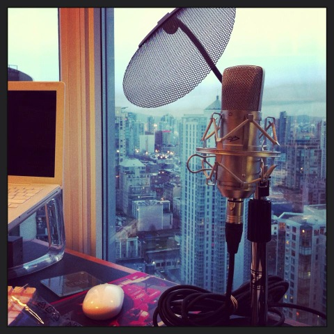 Home Studio Microphone for Voiceover Acting.  PS Nice view, Ann!
