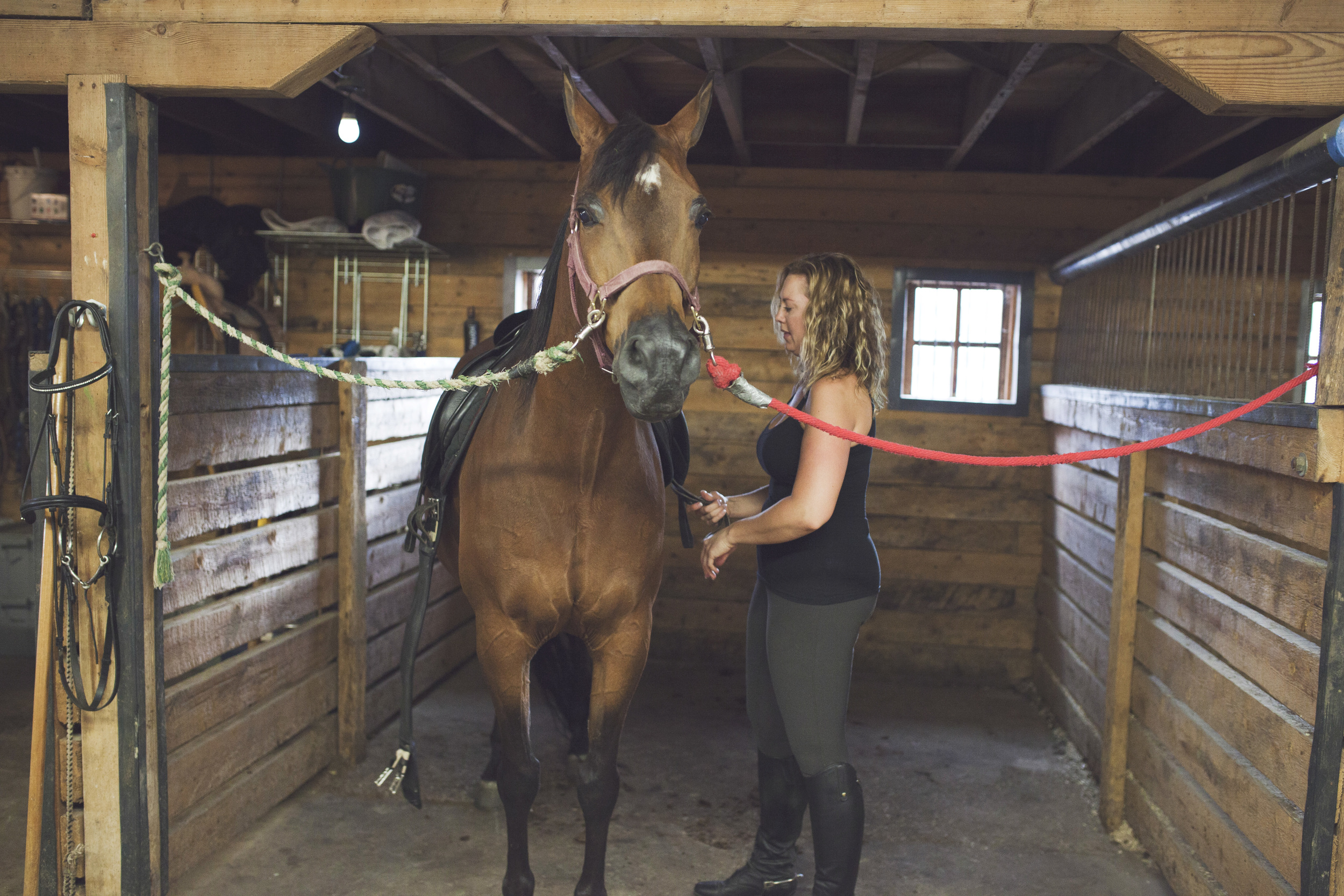 Good horsemanship means taking good care to make sure the horse is comfortable, clean and cooled out after a ride. It's also a great time for bonding - with the horse and with people. We really started chatting about life when we got into the barn.
