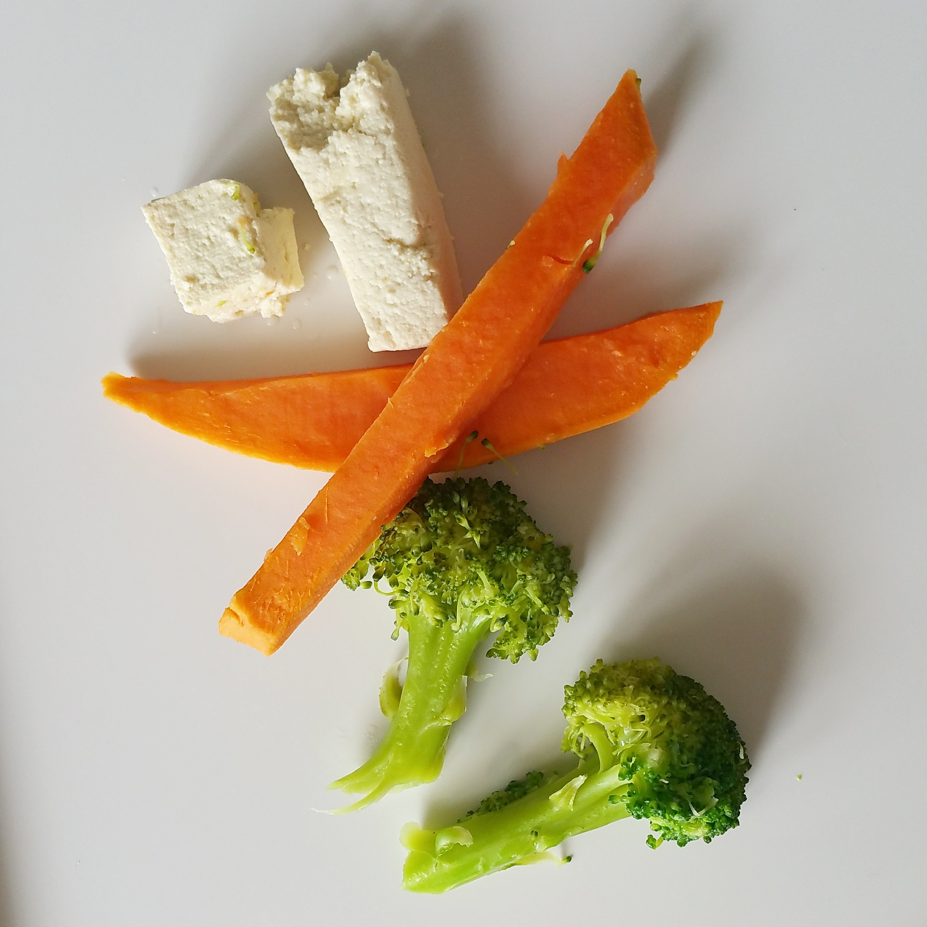 tofu, sweet potato, broccoli