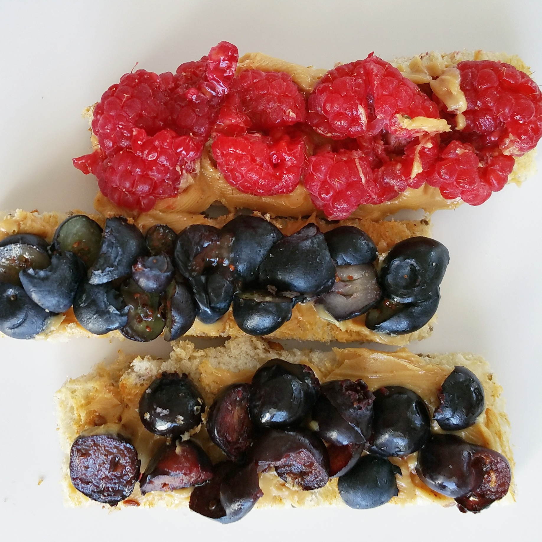sprouted grain toast with nut butters and fruit