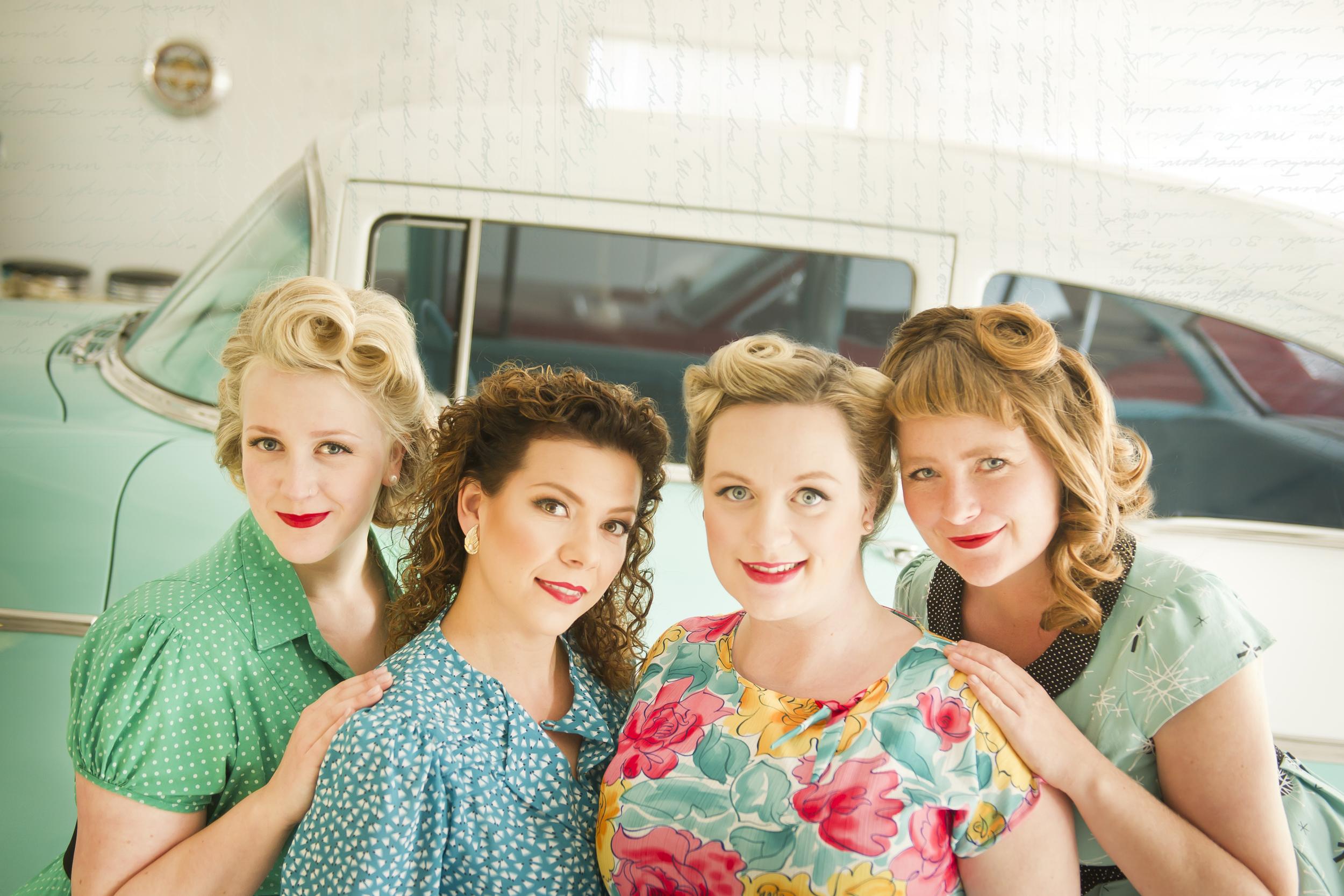 Rosie & the Riveters: Allyson Reigh, Alexis Normand, Farideh Olsen, Melissa Nygren (photo by OCM's own  Lisa Landrie )