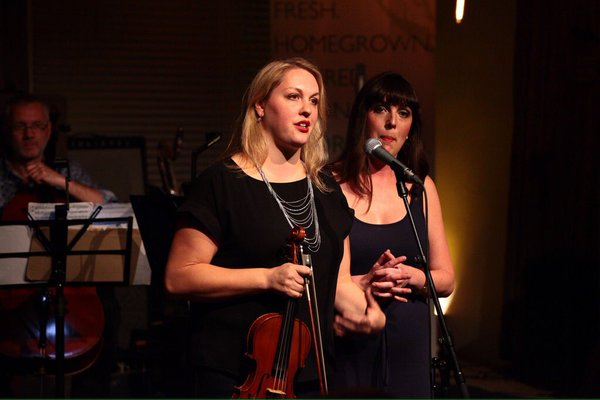 Carissa and Jacqueline at last year's event at Village Guitar