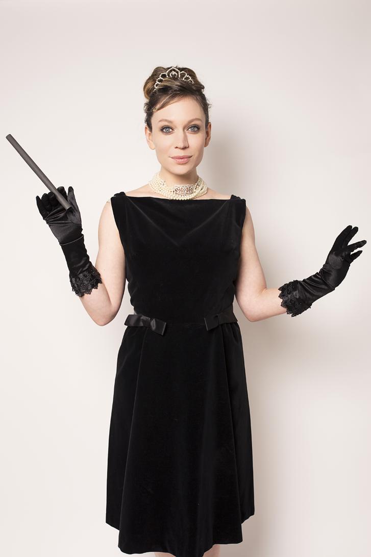 Maygen Kardash as Audrey Hepburn Breakfast at Tiffanys