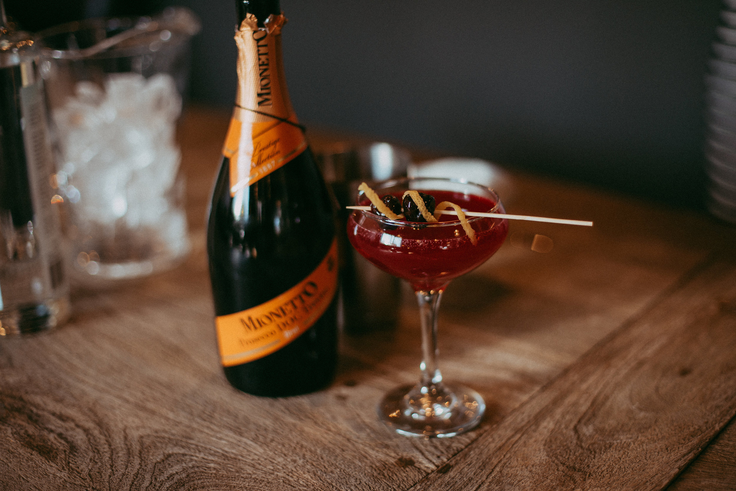 The French 75  champagne cocktail with a twist