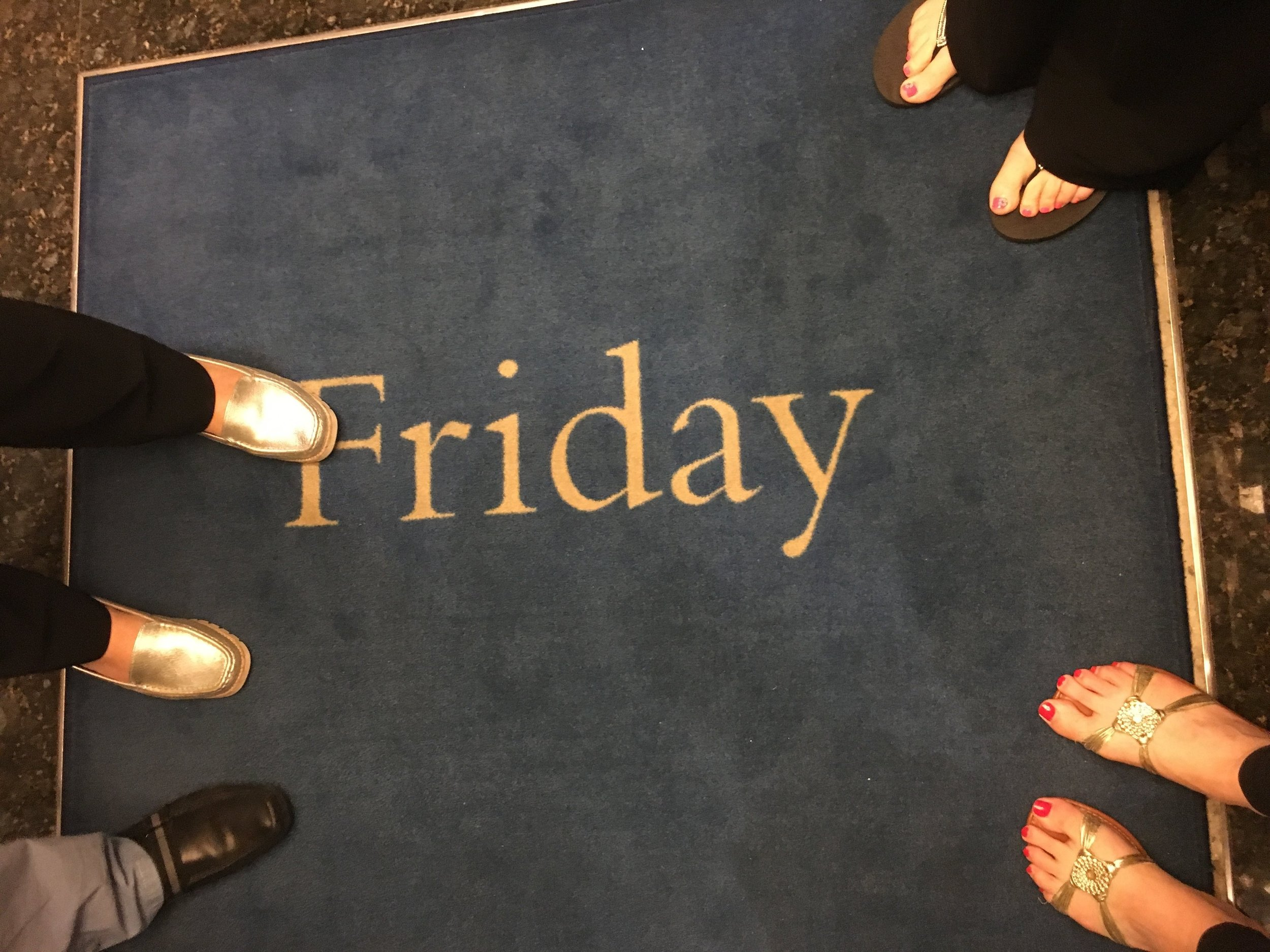 Mom and I loved the cute little touches all over the ship - they changed the mats in the elevators each day.