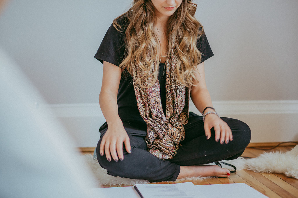 """""""It was so peaceful and relaxing to meditate with Kristen and Danica...their voices blend beautifully together, they have a calming and loving energy, and I really liked the way they explained meditation in a very simple way."""" - Susan  """"I have never meditated and wasn't sure what all went into it, but have heard from so many people how beneficial it is for your health. I went into the afternoon with Danica and Kristen with no expectations. I loved hearing about the scientific evidence behind how meditation is beneficial to you long term and how staying calm and centred is good for you body as a great coping mechanism. I have a very stressful career (apparently one of the ten most stressful if you can believe it) and so I can definitely see how meditation could benefit me. I like to set my alarm early and wake up before the kids and I can see how starting my day calm, instead of frazzled is a great way to start your day. Even five minutes when you wake up and go to bed is all you need. I am planning my own little meditation corner and can't wait to get started! - Molly"""