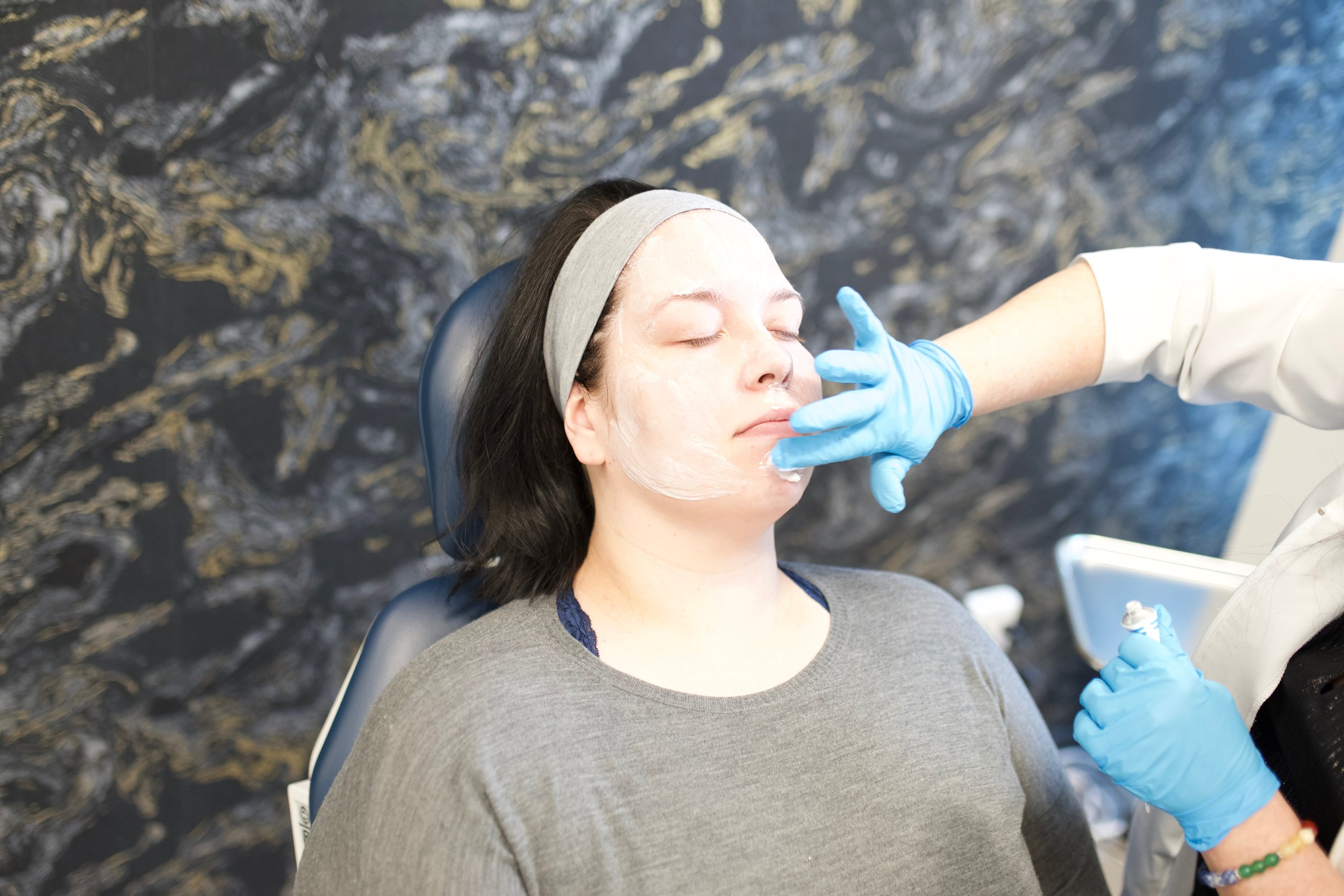Numbing cream application