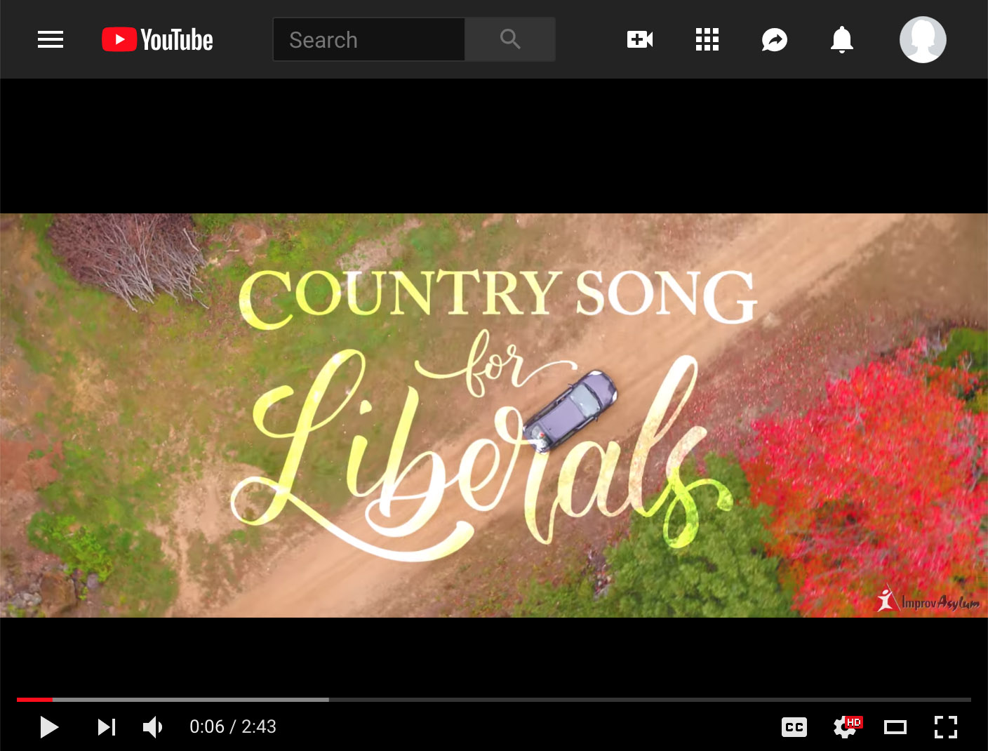 """Country Song for Liberals""  Title Card Typography,  Watch"