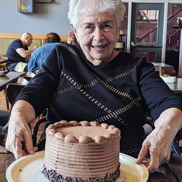 My grandma is 95 today!! The most delicious sugar-free cake anyone at the table had ever tasted by @thebountifulbaker  #cakeday #birthday #grandma