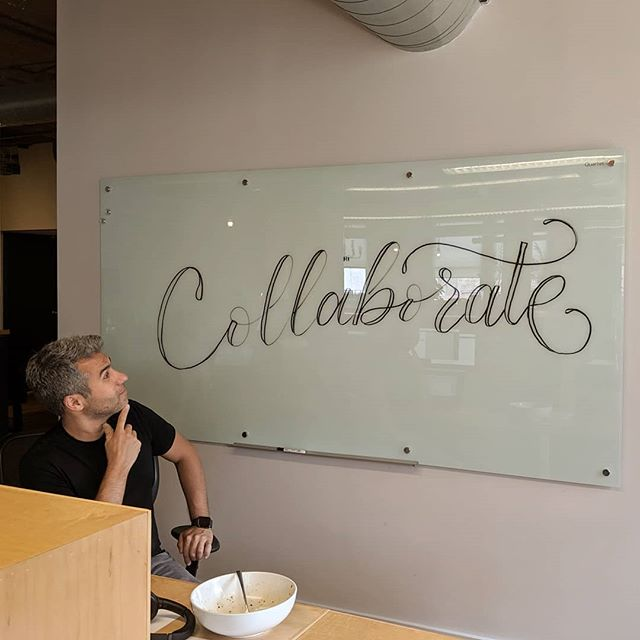 You know I'm gonna go ham on a fresh new dry erase board! @ctpboston ... #stopcollaborateandlisten #adlife #adagency #worklife #office #lettering