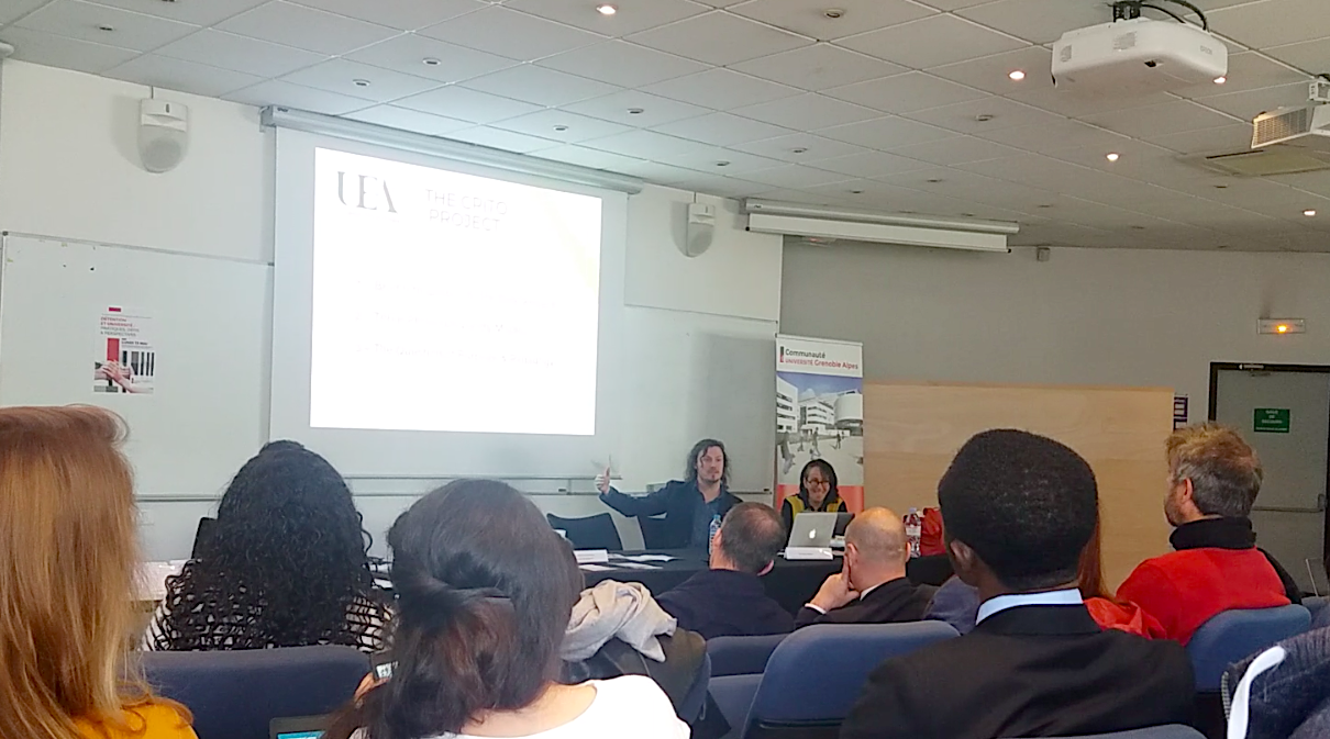 Ben and Mireille at the 'Détention et université : pratiques, défis et perspectives' Conference, May 2019