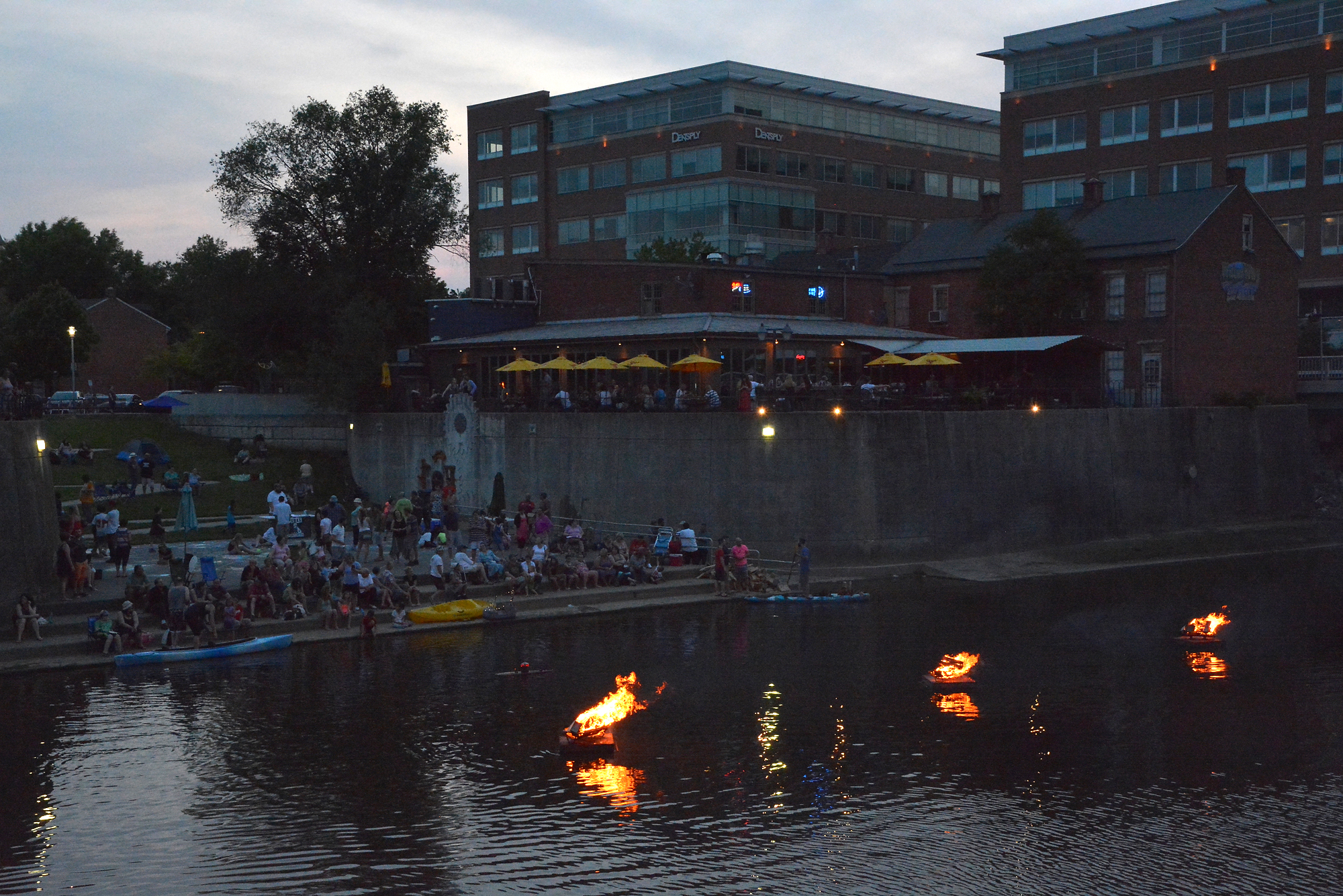 """The 2016 edition of Creek Fire kicked off at Foundry Park On The Codorus on Saturday, May 28, 2016.When it comes to the WeCo neighborhood in York, Pa., """"the vision overall would be to create a neighborhood that people want to be in – whether it's living there, visiting, going to an event,"""" says  Patrick Ness,Architectural designer and Associate at Murphy & Dittenhafer Architects. (Photo by  Randy Flaum)"""