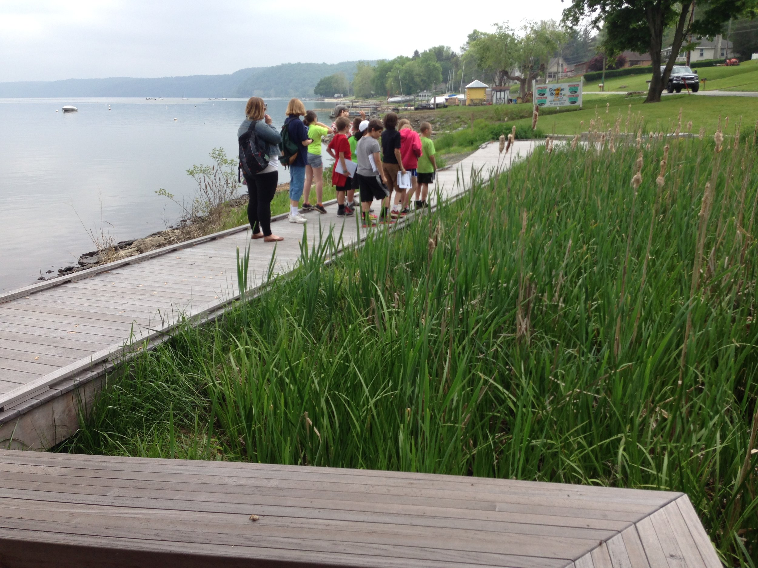 12 Students on Boardwalk at Riverside.jpg