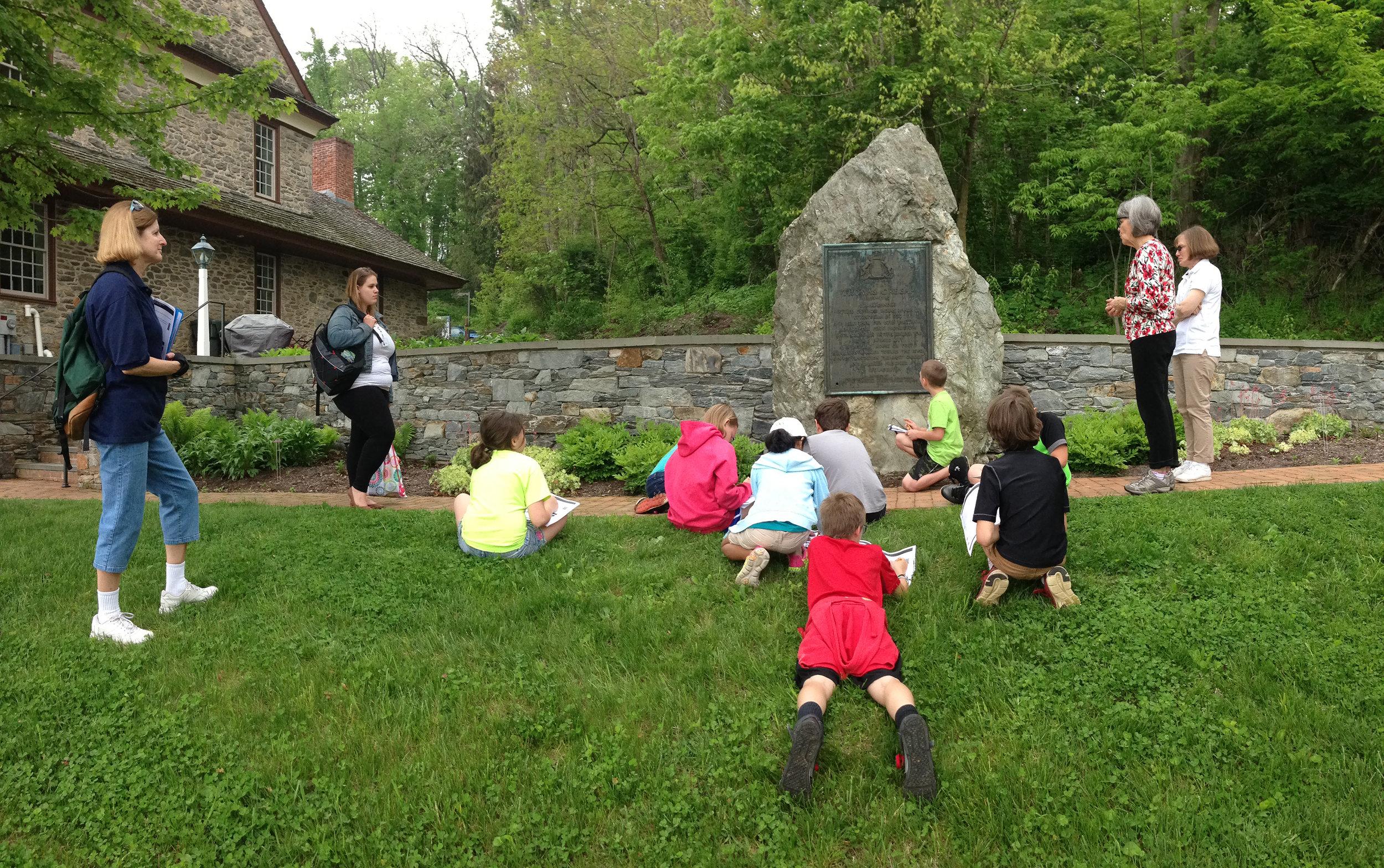 13 Students at Thomas Cresap Memorial.jpg
