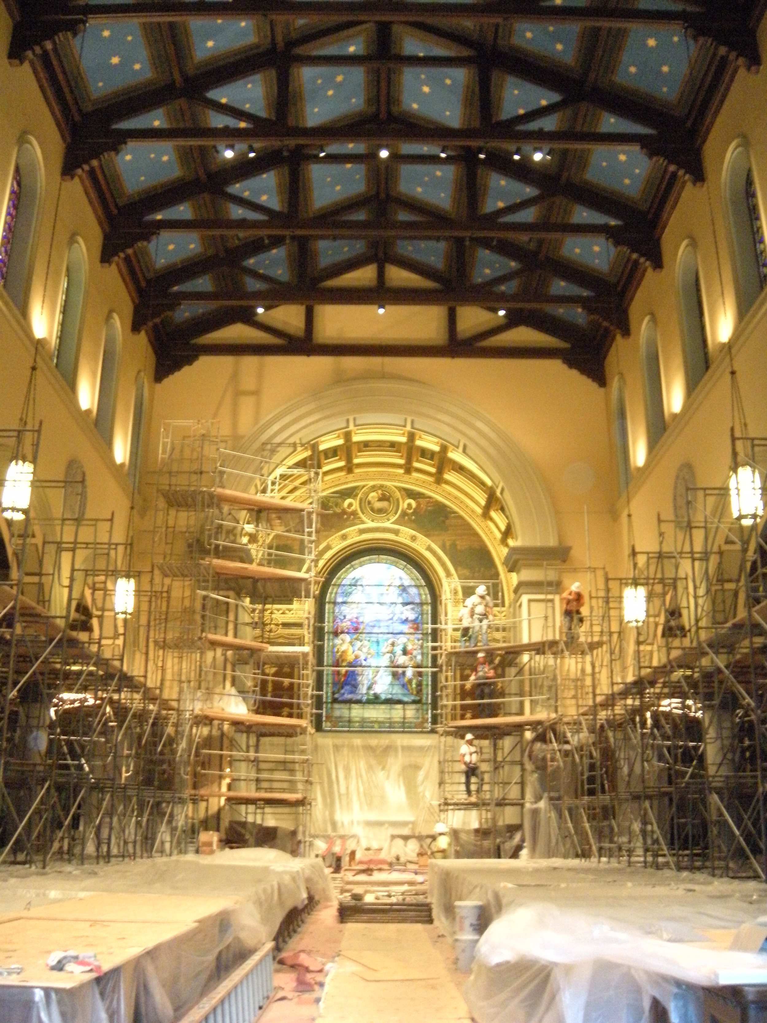 St. Paul's Episcopal Church, during renovation