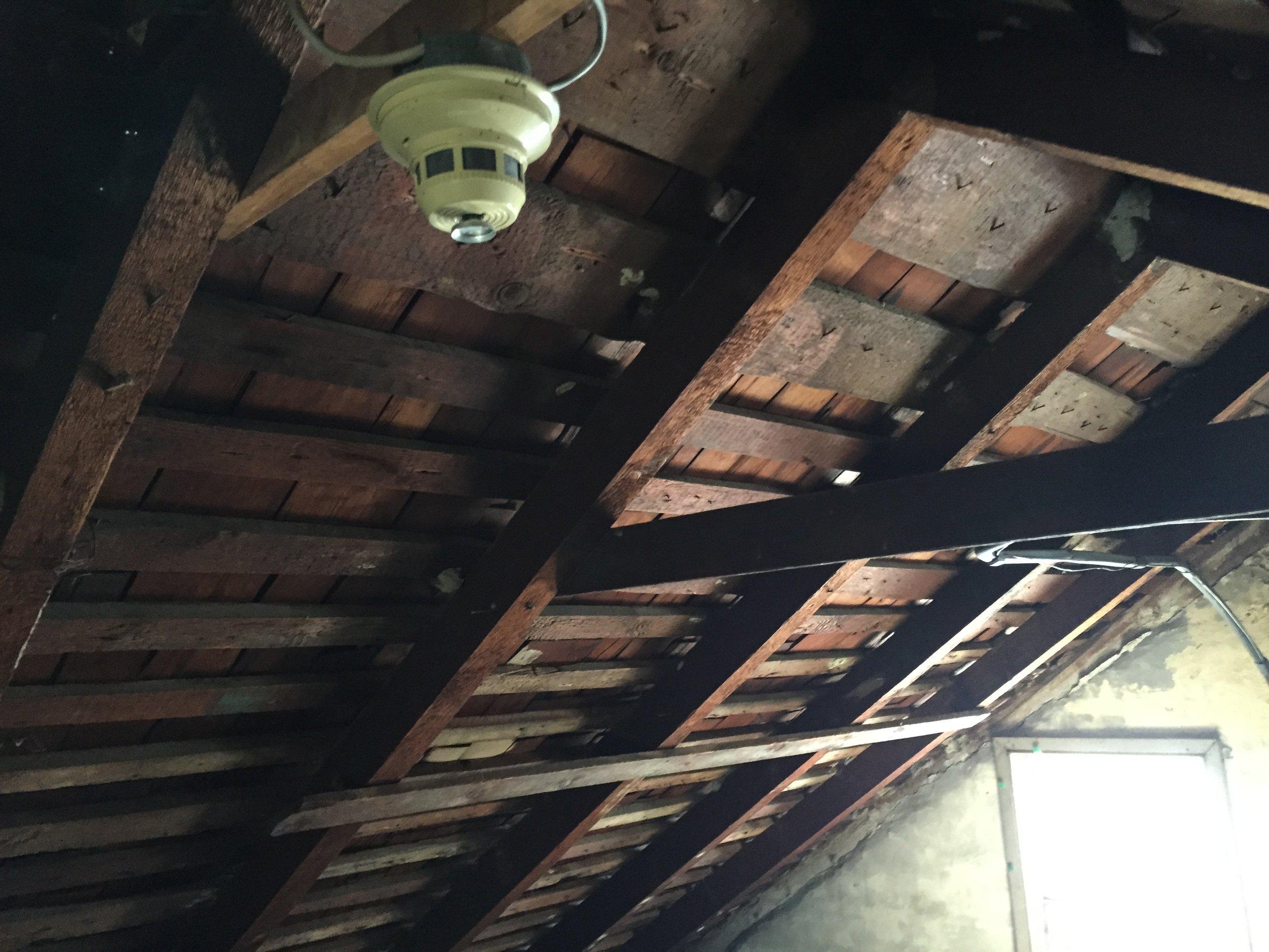 Strickler farmhouse, interior
