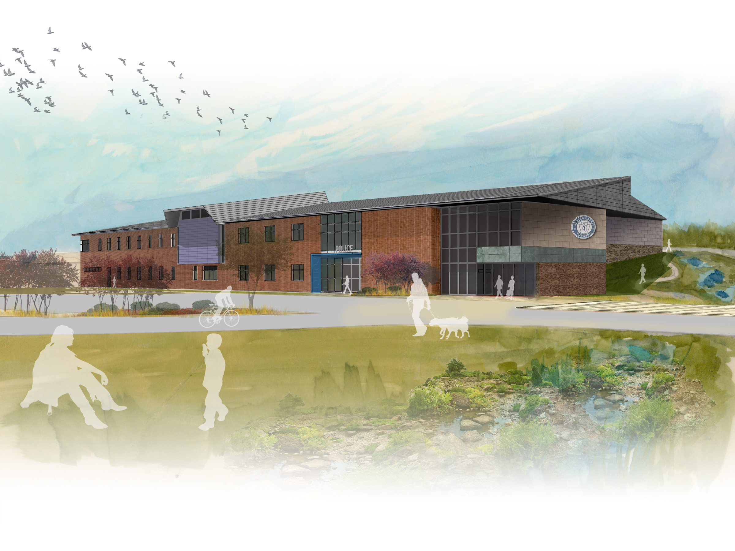"""Jonathan Taube's """"keen design sense and exceptional graphic skills have contributed significantly to the development of the Spring Garden Township building."""""""