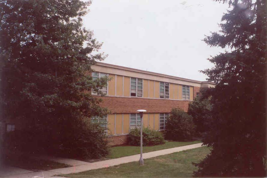 Millersville University Osburn Hall before, with 1950s exterior