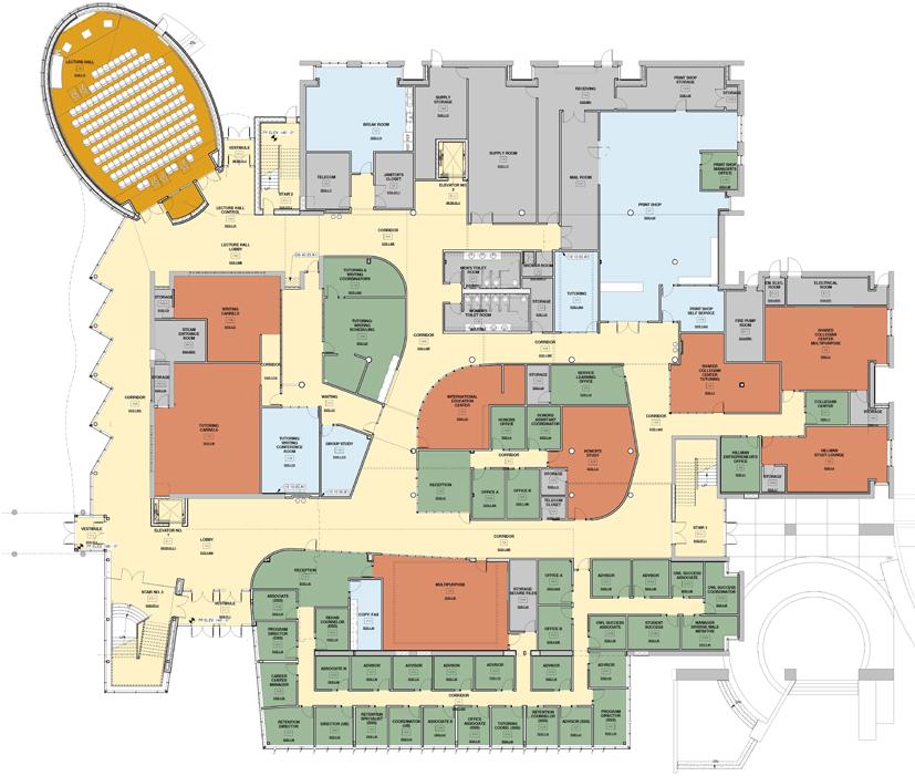 Lanham Hall, Floor Plan: First Floor