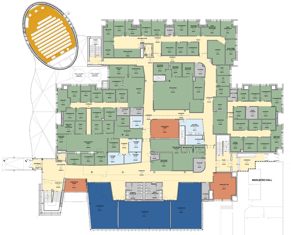Lanham Hall, Floor Plan: Second Floor
