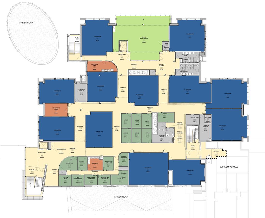 Lanham Hall, Floor Plan: Third Floor