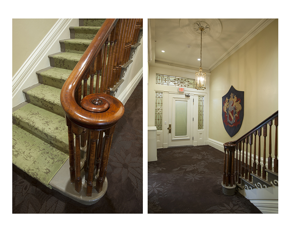 Main Staircase & Entry Area, restored