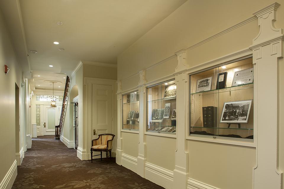 Main Hallway & New Historical Displays, restored
