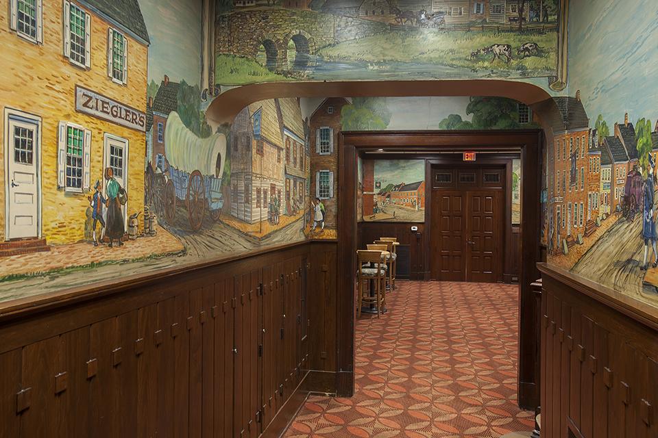 Tavern Room Murals, restored