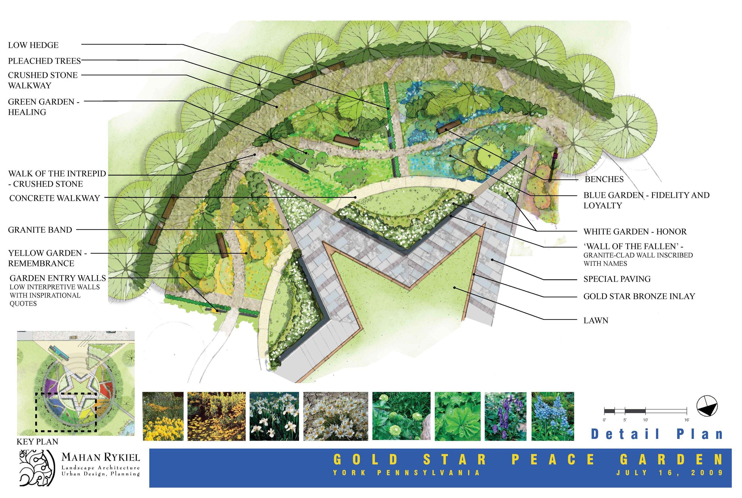 Gold Star Peace Garden Concept Design