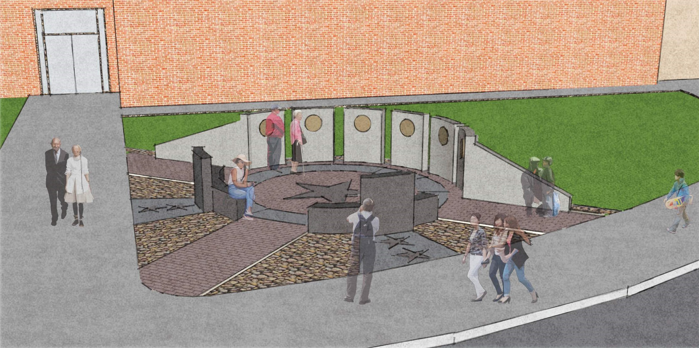 Pictured is the design for a Veterans Memorial at Dover High School – Frank's high school alma mater.