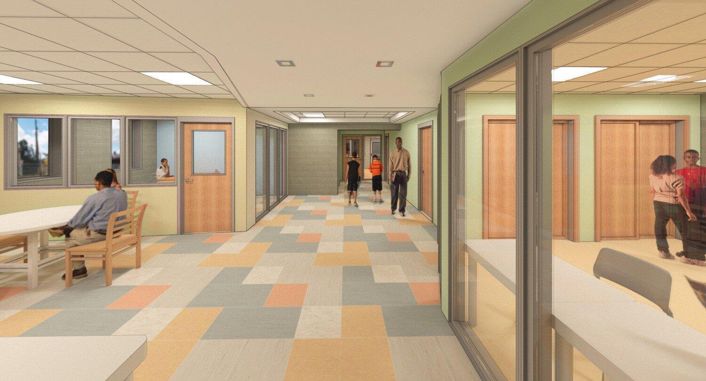 BCRP Bocek Park Field House interior rendering
