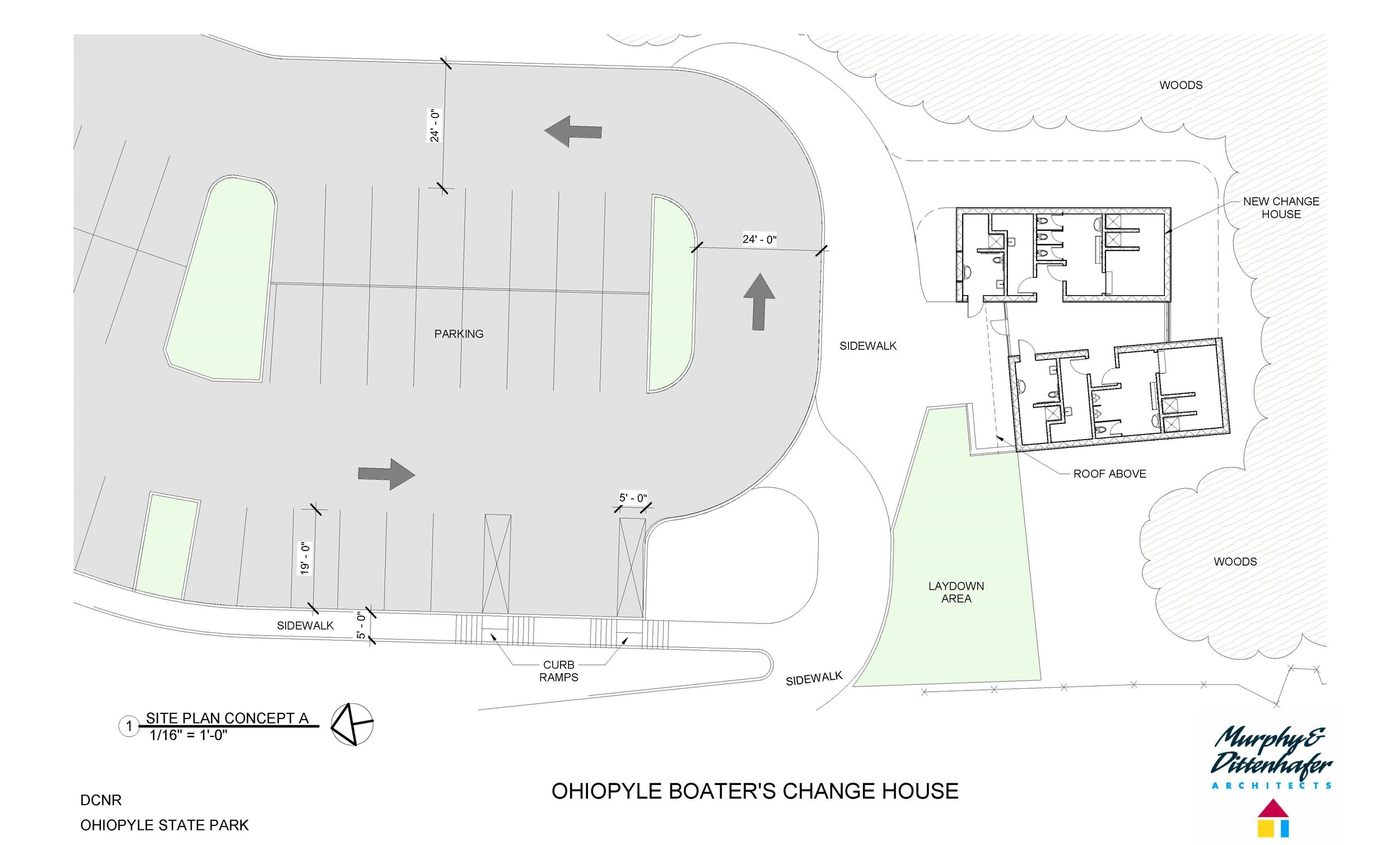 Ohiopyle Boater's Change House Site Plan