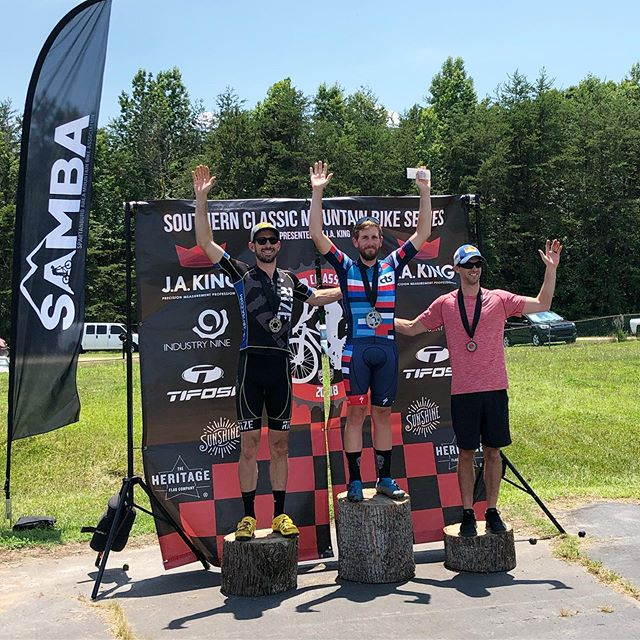 "So many podiums! Great turnout at the @southernclassicmtb ""Stumpjumper"" race in Spartanburg today. Matt Champion 1st in Cat 1 30-39, Zeb Ramsbotham 2nd in Cat 1/Pro Men's, Annie Pharr 2nd in Cat 1/Pro Women's, Ben Hill 2nd in Cat 2, plus Joseph Grimes was 4th in Cat 1 30-39!  #wecametorace #ctsathlete #stumpjumper #hothothot #southernclassicmtb"