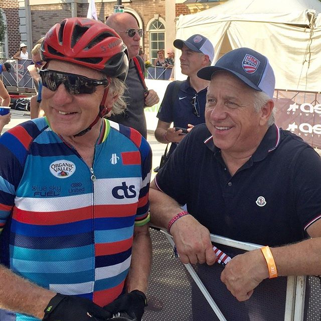 Our teammate Kent Bostick (2x Olympian and former elite world champion) got a chance to catch up with Greg Lemond at the US Pro championships. Kent is old enough to be your granddad, but is still training daily and can still kick your ass. Ask him about racing with Lemond when you see him!