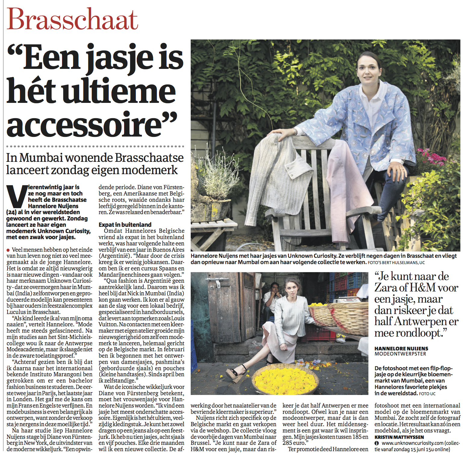 Gazet Van Antwerpen - 13th June 2014
