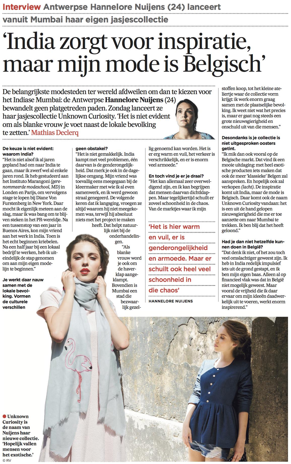 De Morgen - 11th June 2014