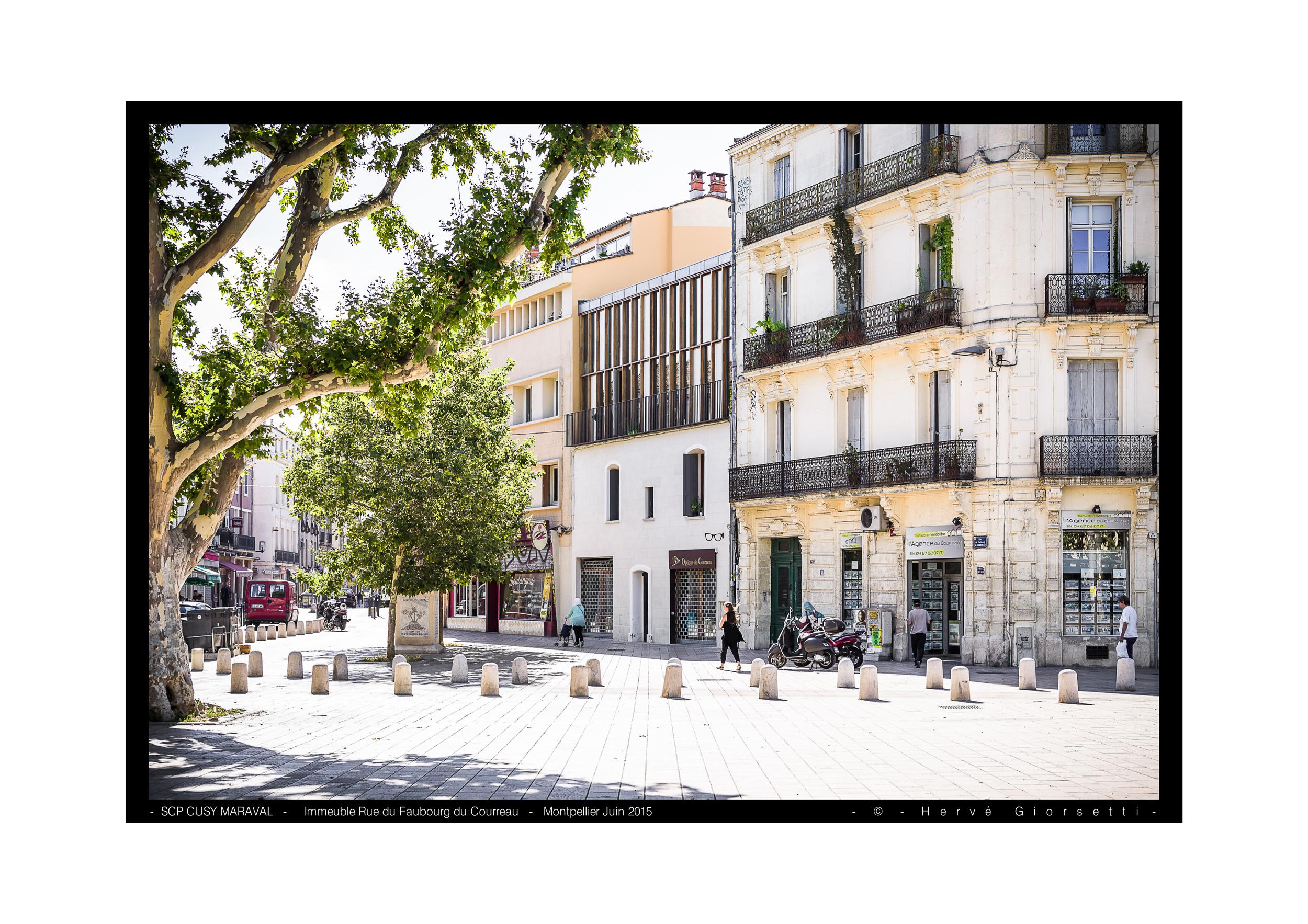 Immeuble, rue du Faubourg du Courreau, Montpellier  SCP CUSY MARAVAL Architectes