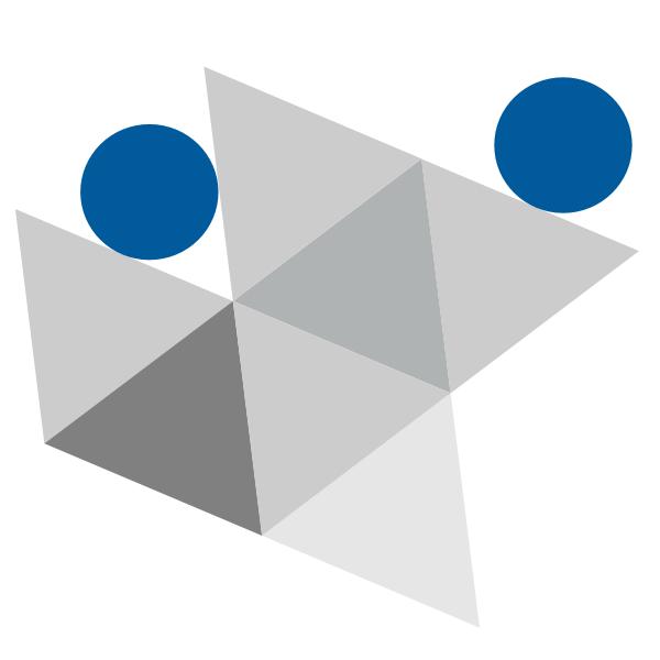 Tentative de refaire le symbole des employés unis avec des triangles.
