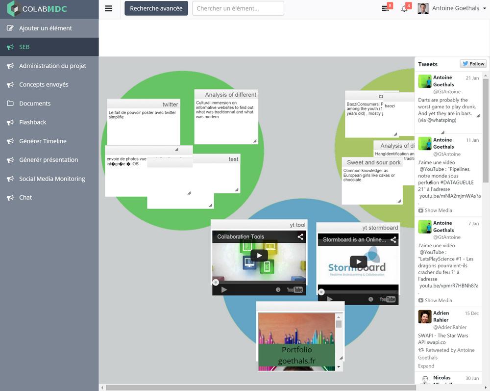 Maquette d'une application innovante de gestion de projets