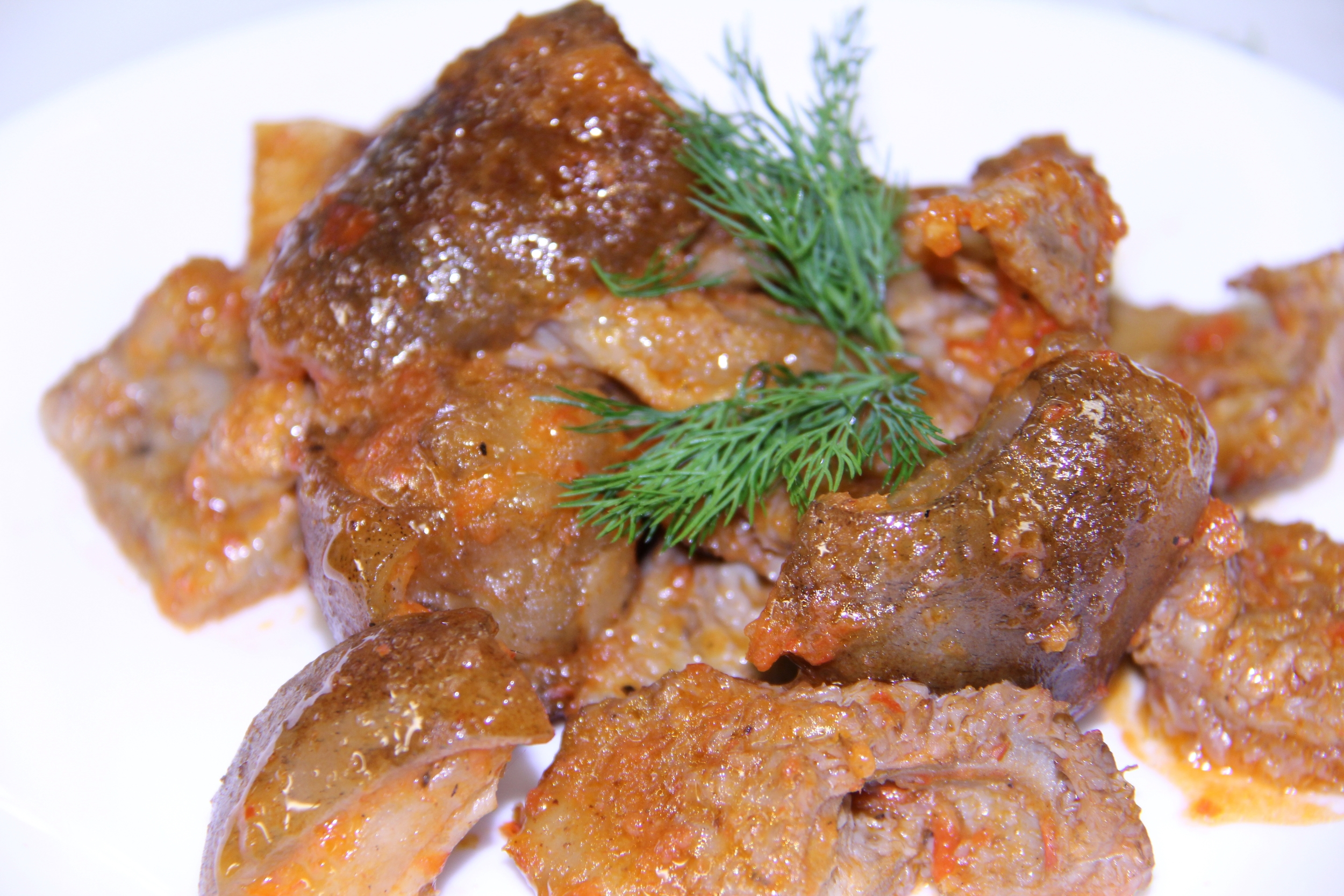 Tripe and Assorted Beef Organs in Sauce