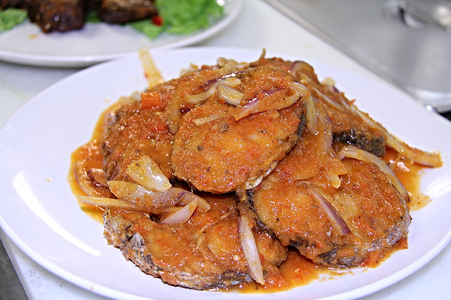 Fried Fish in juicy ssauce
