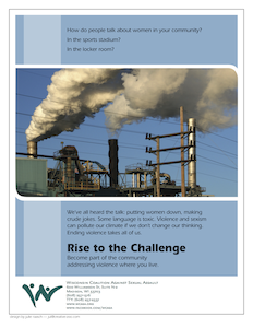 """smoke"" - one of three posters in the ""Rise to the Challenge"" series created for WCASA"